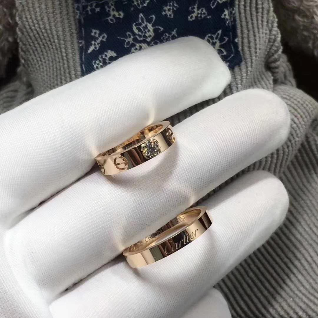 18K Pink Gold Cartier Wedding Rings Cartier love ring