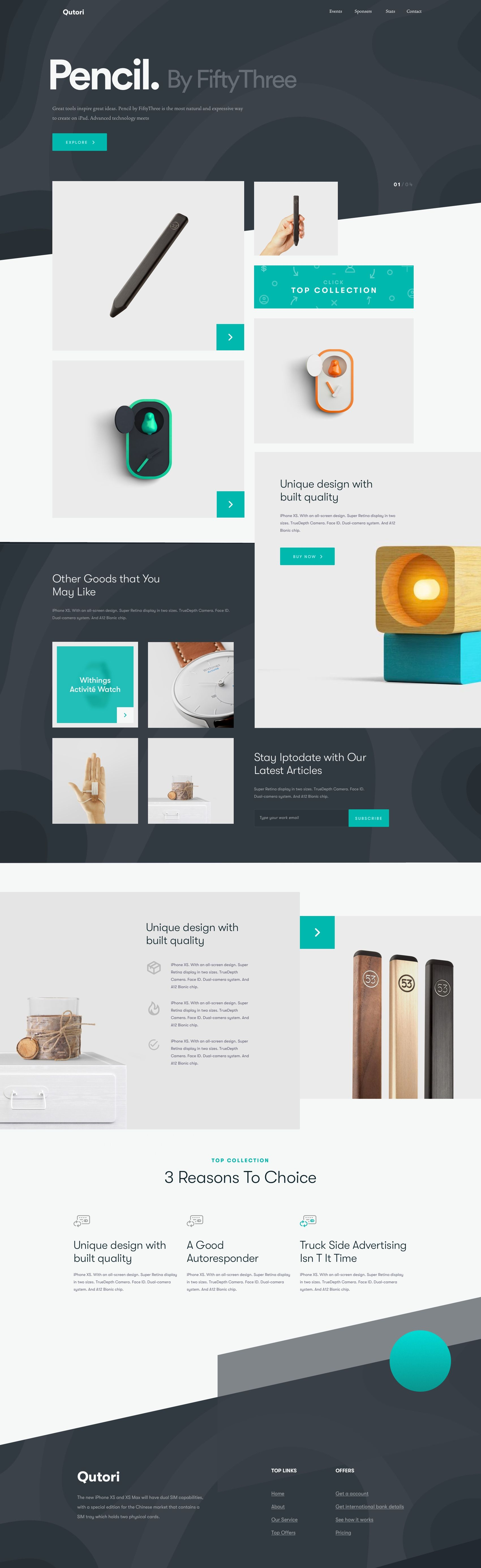 Pencil Product Landing Page Web Design 2018 By Shekh Al Raihan Branding And Web Design Corporate W Portfolio Web Design Best Landing Page Design Web Design