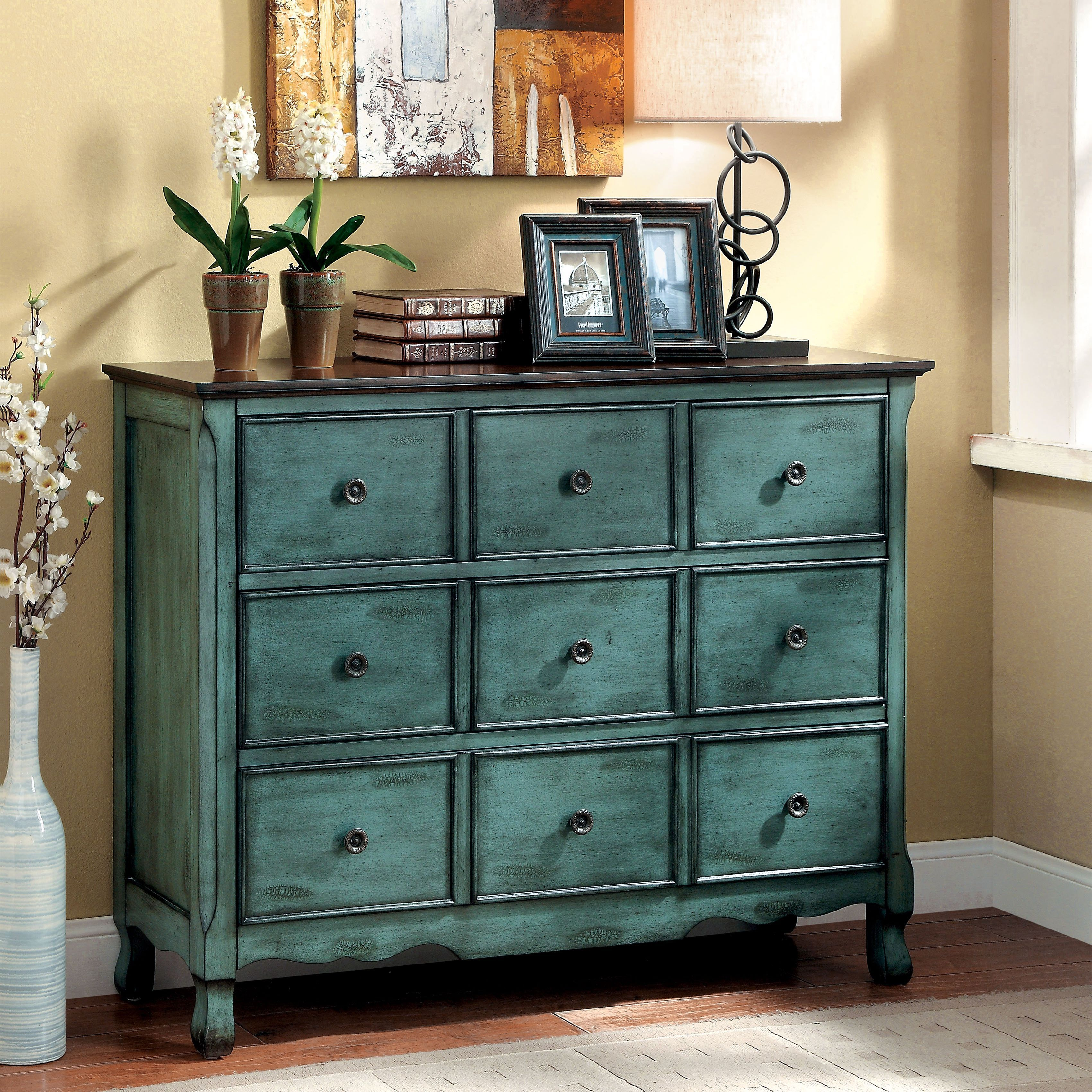 Place this beautiful vintage inspired chest in any hallway entryway or bedroom the three wide drawers are sure to be of use while hiding behind the