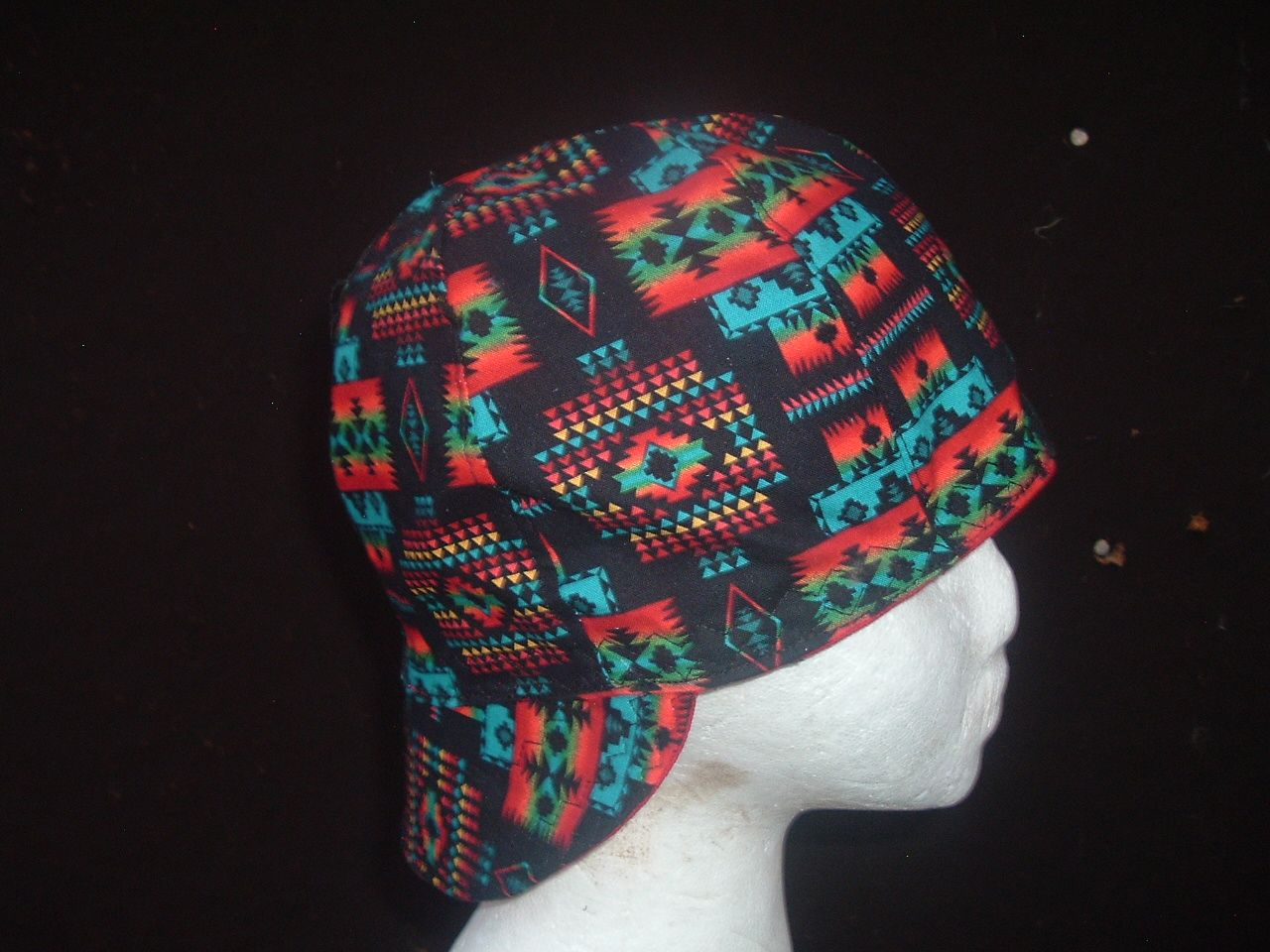 Black Pendleton design Welding Cap made here in New Mexico in your size.  You can buy this cap in eBay or Etsy stores under Native Welding Caps. 8ab199c9c18f