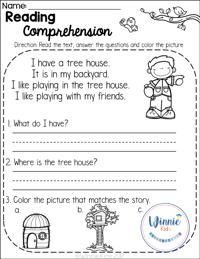 Kindergarten Reading Prehension Passages Spring