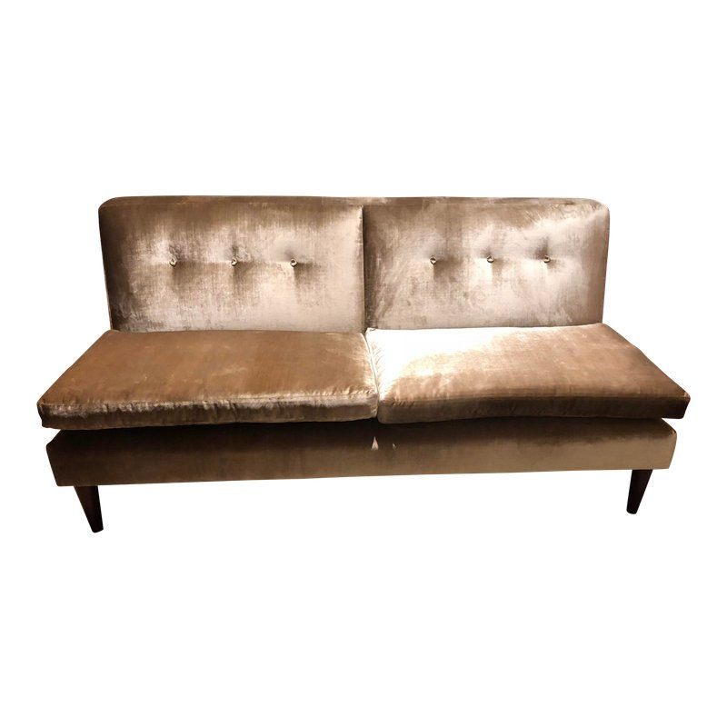 Fine George Smith Velvet Brompton Fixed Back Armless Sofa In 2019 Inzonedesignstudio Interior Chair Design Inzonedesignstudiocom