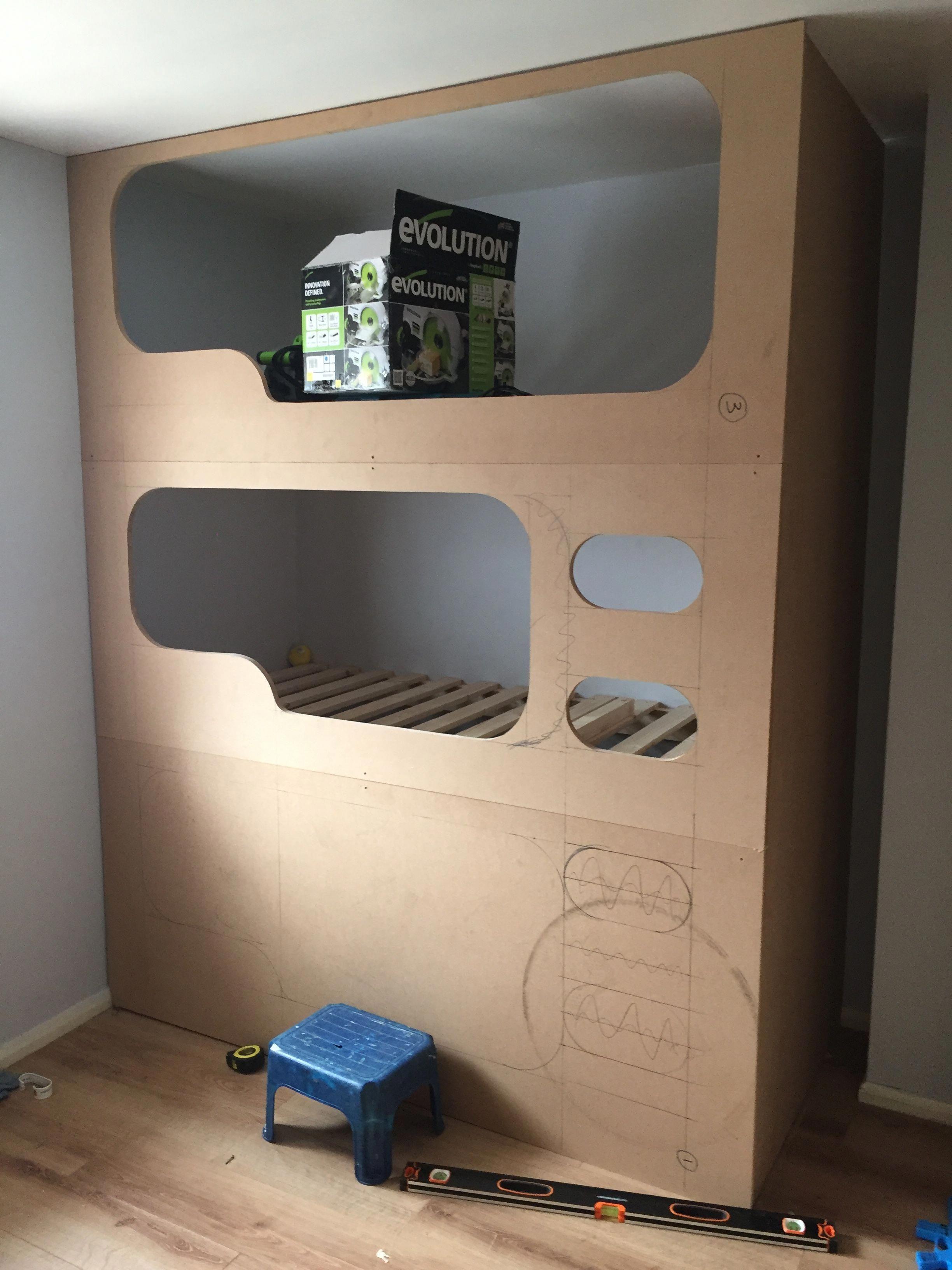 Loft bed ideas for low ceiling  DIY triple bunk bed udtriplebunkbedsforboysroomud  Triple Bunk Beds