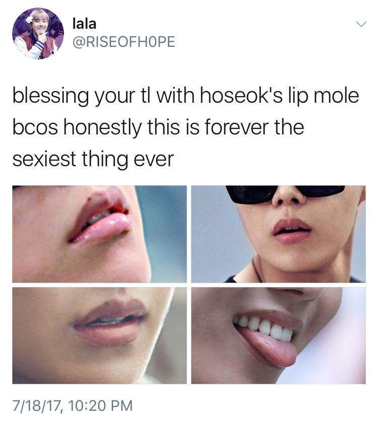 J hope mole on his lip #lipsshape