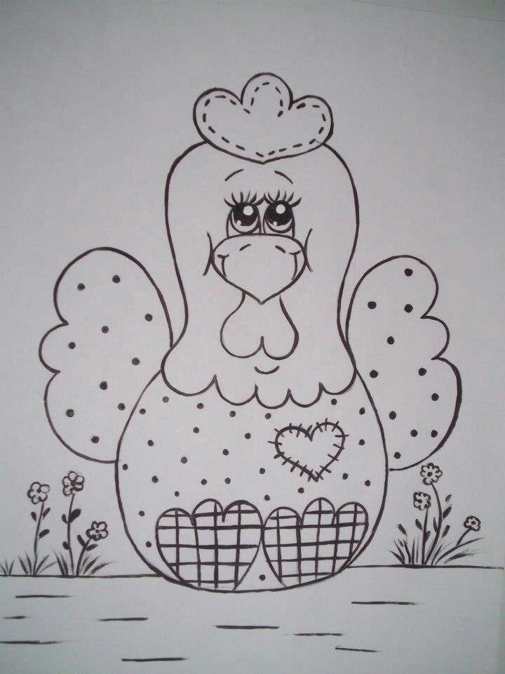 Gallina | imagenes | Pinterest | Embroidery, Crafts and Chicken crafts