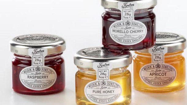wilkin 39 s mini jam jars are used in hotels across the globe. Black Bedroom Furniture Sets. Home Design Ideas