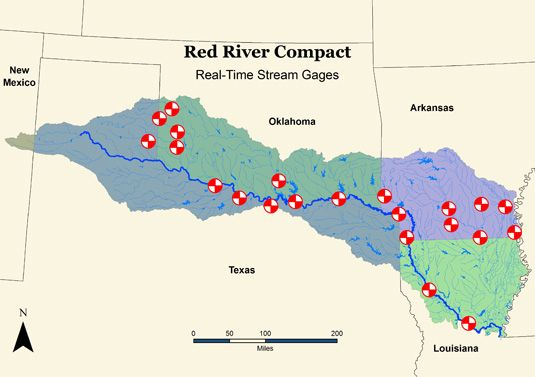 Red River Texas Oklahoma Map Arkansas Red River Commission The Justices On The United States