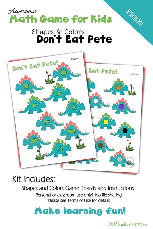 Colors and Shapes Preschool Math Game   Preschool math games, Math ...