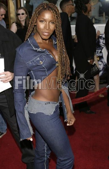 Actress A J Johnson Nba Fashion Shane Battier Wears Purple Pants