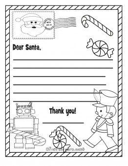 Free Printable Christmas Wish List Toys To Santa Claus For Kids