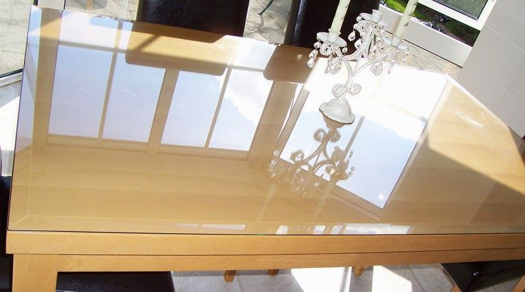 Gleaming Glass Top To Protect Wood Table Magnificent Glass Top