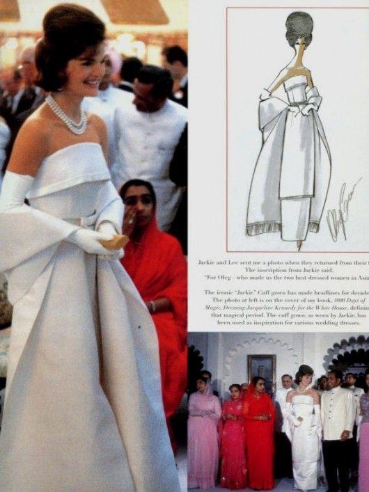 La gatta ciara oleg cassini for Jackie o wedding dress designer