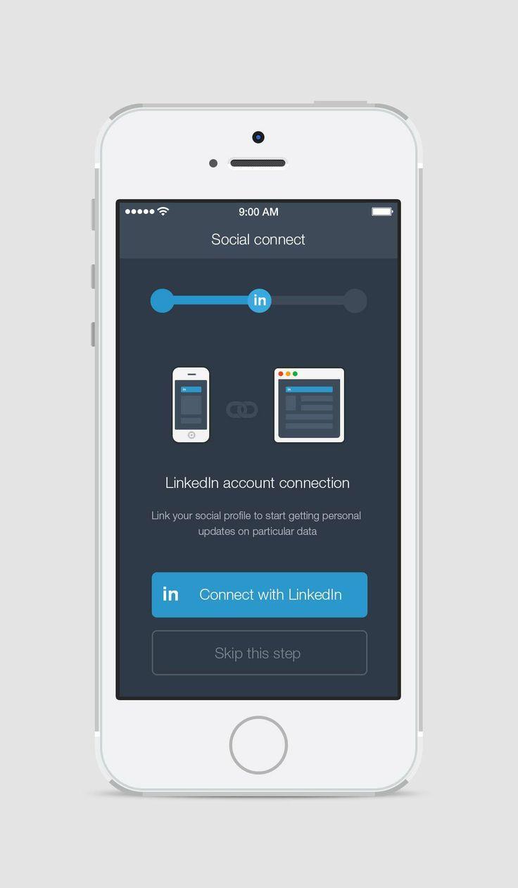 Steps Linkedin Clear Steps Ios App Design Ios Design Mobile App Design