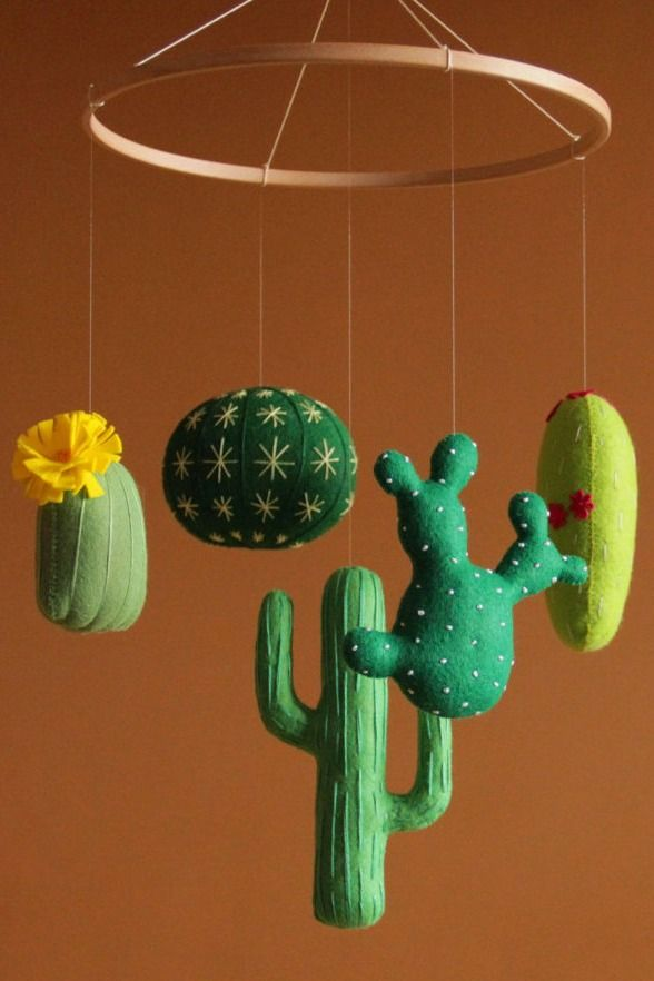 Baby Mobile Cactus Baby Mobile Cactus Nursery Decor