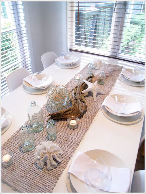 Coastal Tablescape Nautical Dining Rooms Summer Decor Beach House Decor
