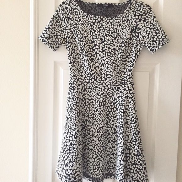 83357d5d34 Snow leopard print skater dress. Open back. Very cute on! Excellent  condition. Guess Dresses Mini