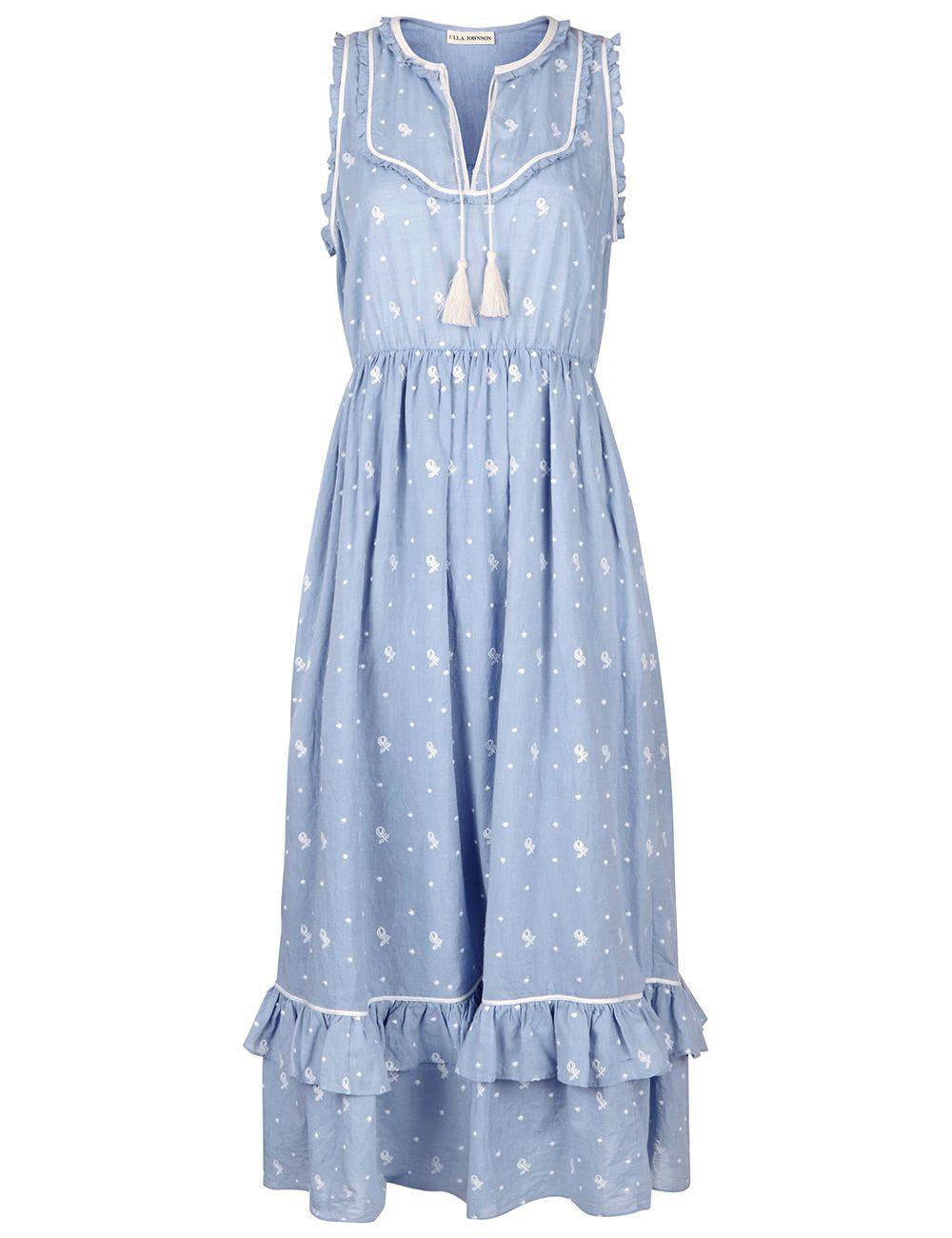 9b8af15f ULLA JOHNSON Blue Bib Front Maelle Dress. #ullajohnson #cloth #dress ...