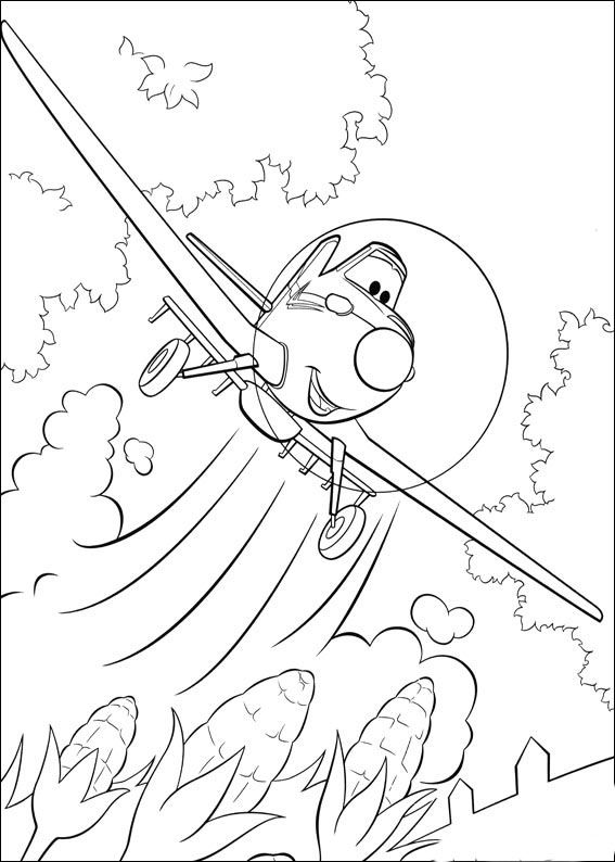 Dibujos para pintar para niños Aviones 2 | Dibujos en blanco | Pinterest
