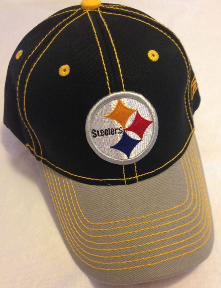 a6bb1952 PITTSBURGH STEELERS Logo New Black Gray Yellow stitches NFL Team ...