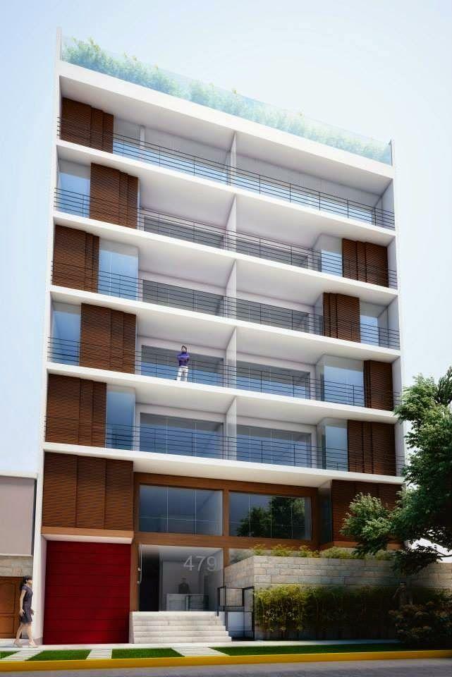 Fachadas de edificios de departamentos arquitectura for Fachadas edificios modernos