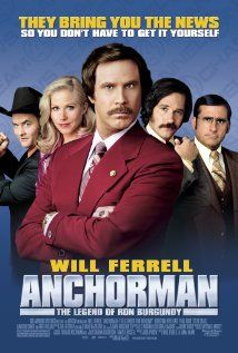 Anchorman The Legend Of Ron Burgundy 2004 Anchorman Movie Funny Movies Anchorman