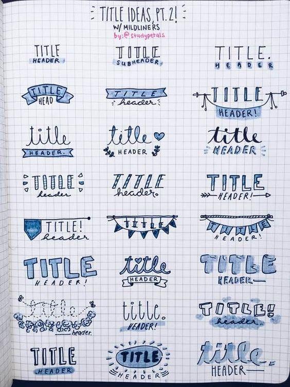 Bullet Journal Doodles Hand Lettering Handwriting | 2019 Calendar Printable Template