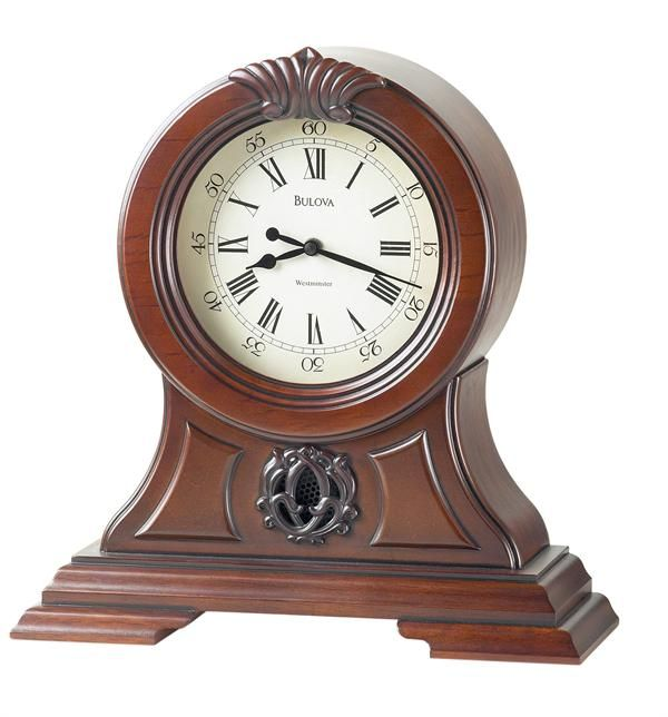 Bulova Marlborough Decorative Mantel Clock Model B1998 - Open Box