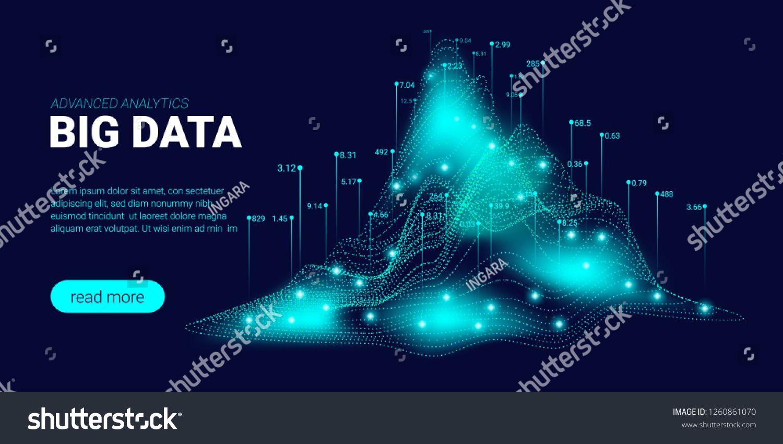 Big Data Visualization Energy Stream Concept Landing Page