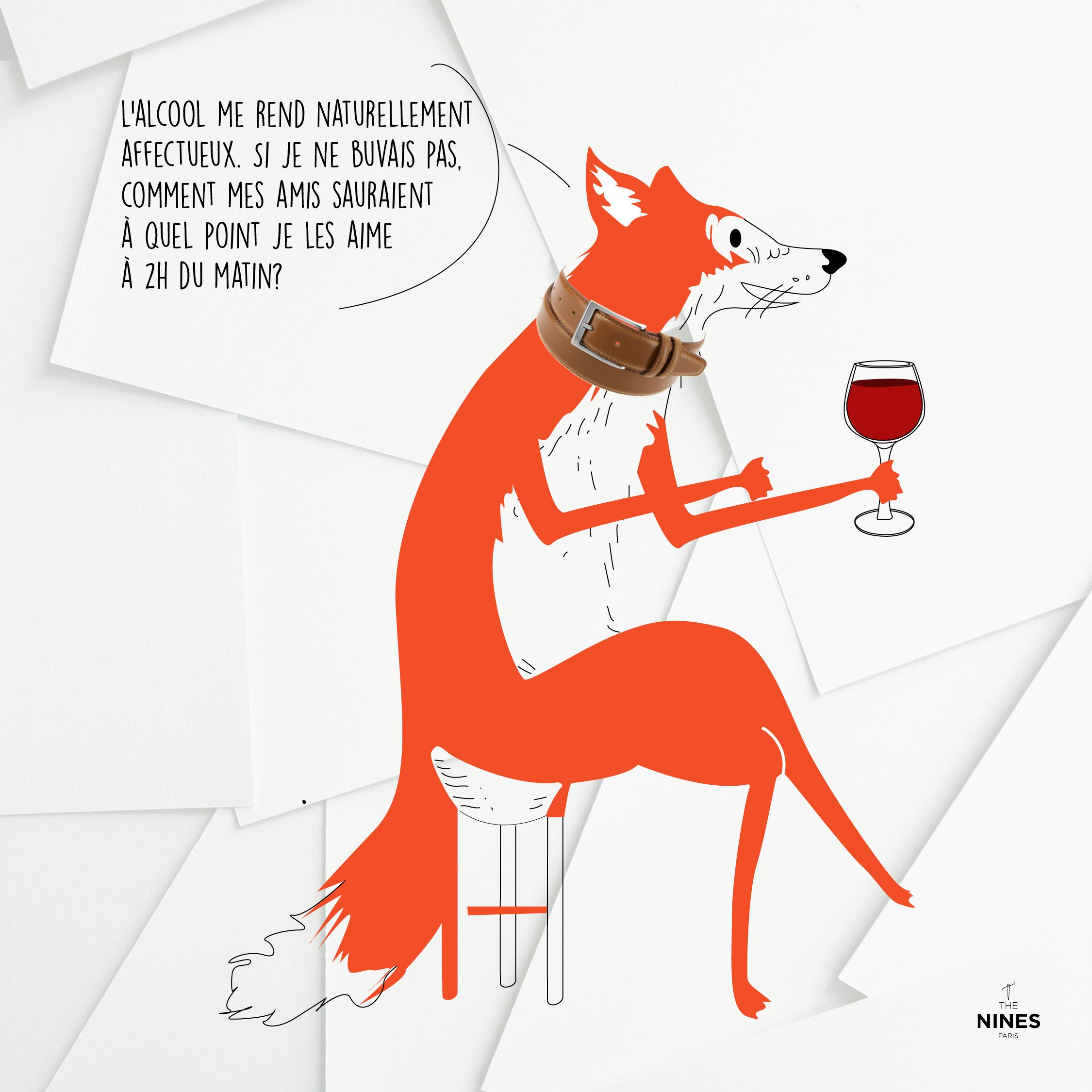 Soyez Naturel  #mood #drawing #inspiration #wine #fun #quote #thenines #friends #humour #ceinture