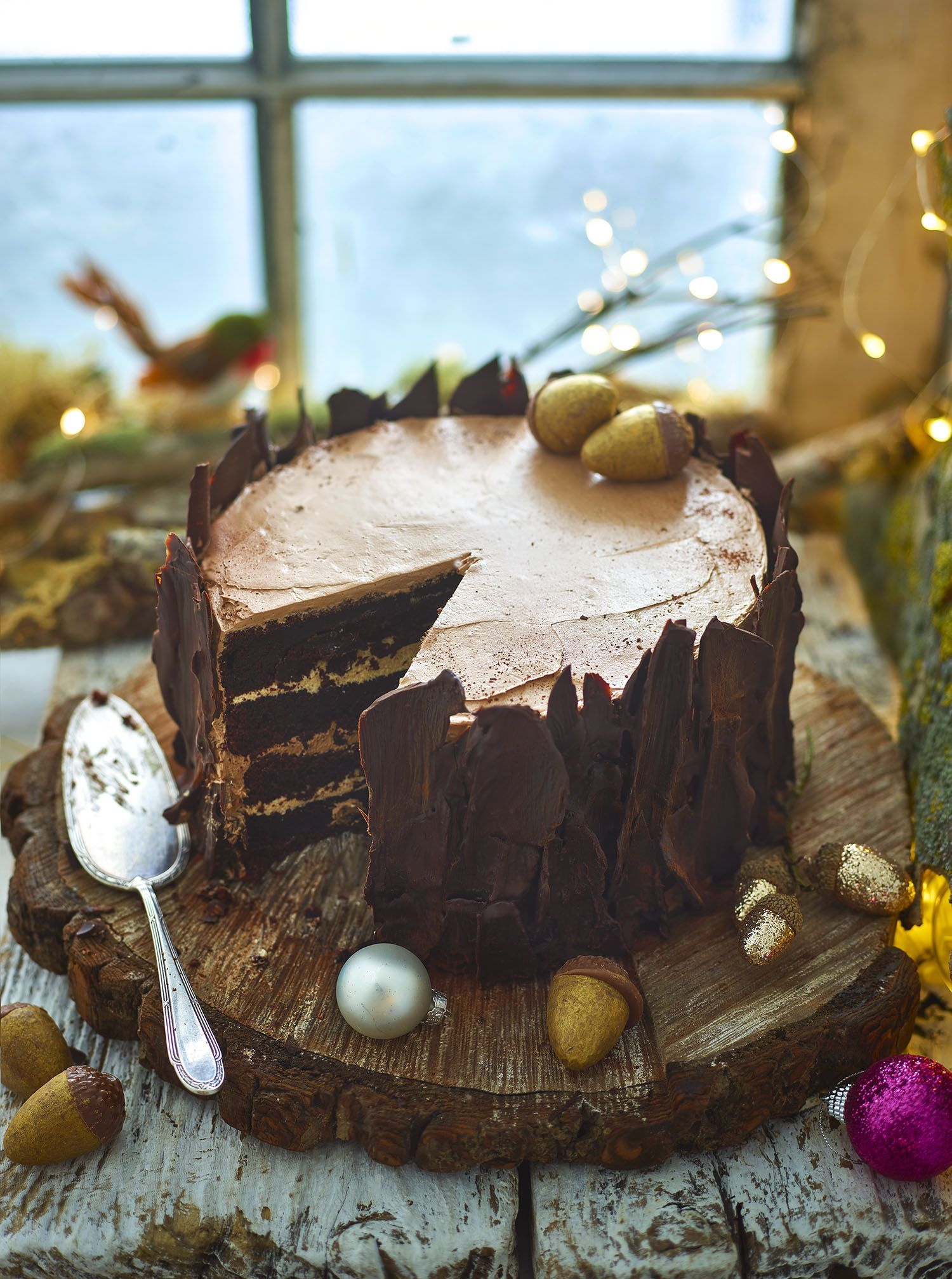 Chocolate Yule Log Tree Stump Recipe Chocolate yule