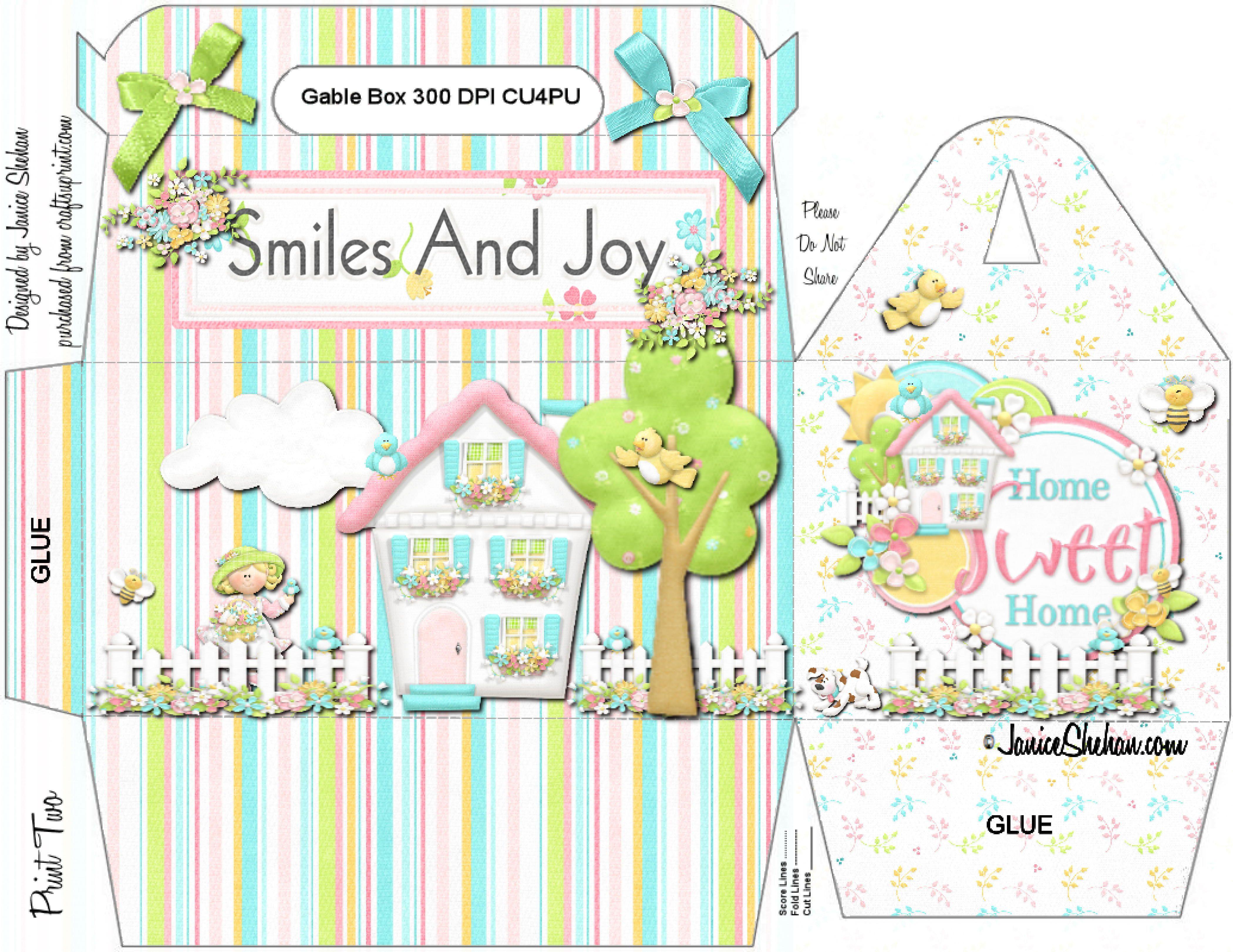 Adorable printable diy gift box birthday handcrafted etsy adorable printable diy gift box birthday negle Gallery