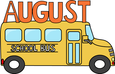 free month clip art august school bus clip art image a school rh pinterest com august clip art borders august clip art pictures