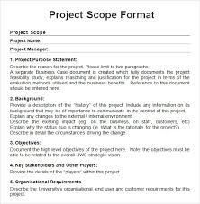 simple project scope template google search project charter
