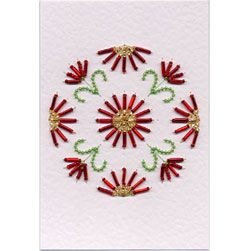 Bead Medallion 4: Daisy | Flowers patterns at Stitching Cards.