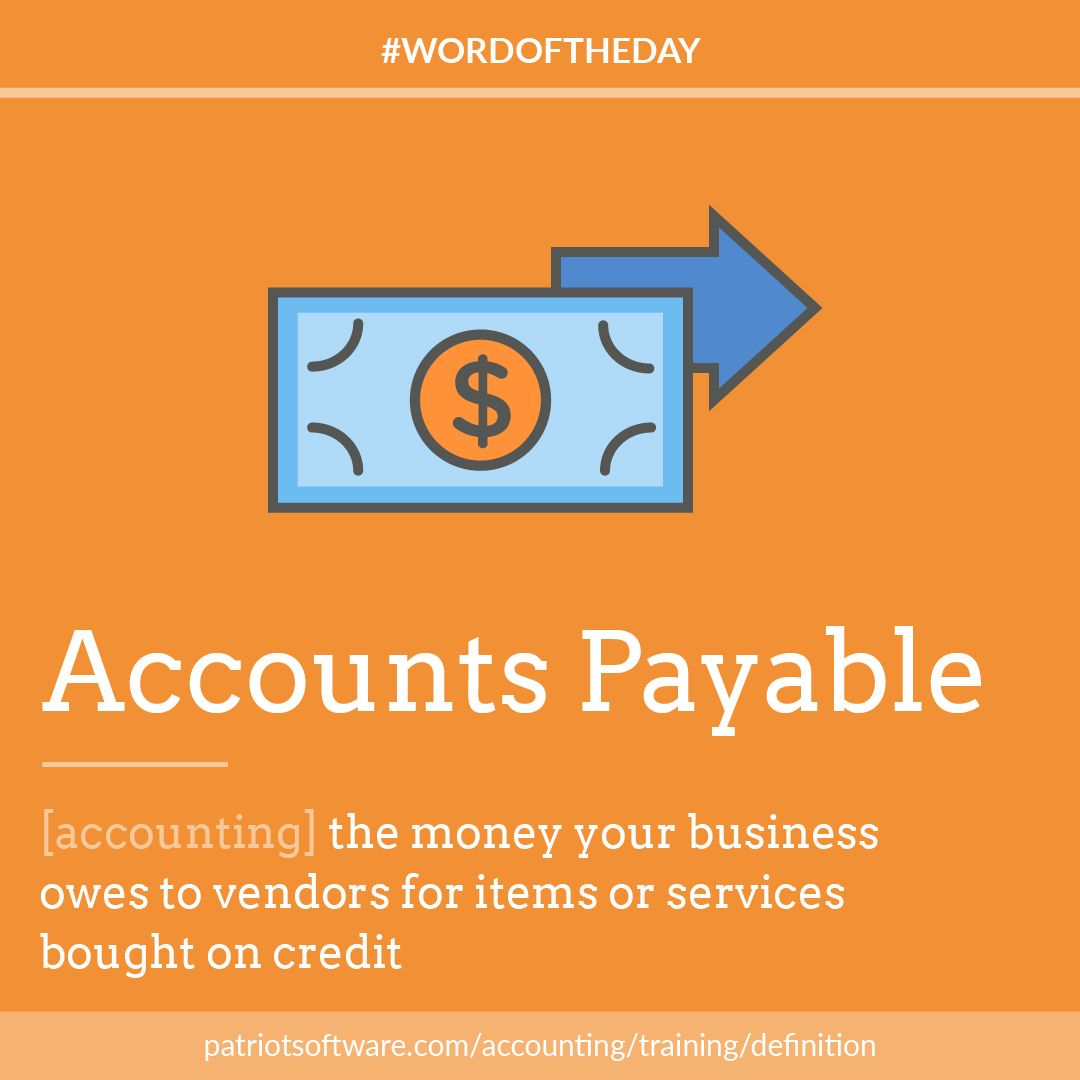 today's #wordoftheday is accounts payable, the funds owed by a