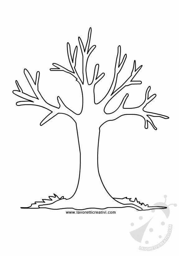 Stablo Jesen Priroda Autumn Autumn Trees Tree Coloring Page
