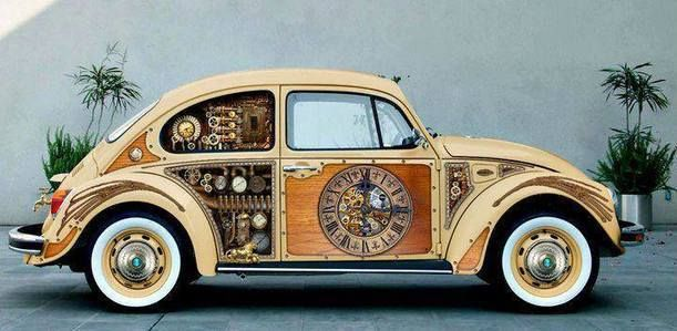 Steampunk Beetle - Paul Davidso #Inspiration #Design #Steampunk #Vw