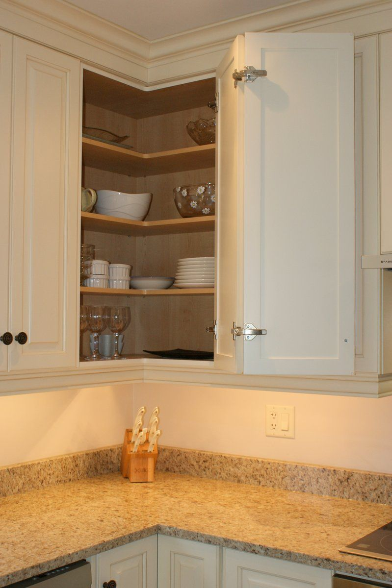 Access to upper corner cabinet kitchen remodel in 2019 - Kitchen built in cupboards designs ...