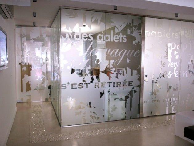 Cloisons en verre semi opaque GLASS_Sticker film Pinterest