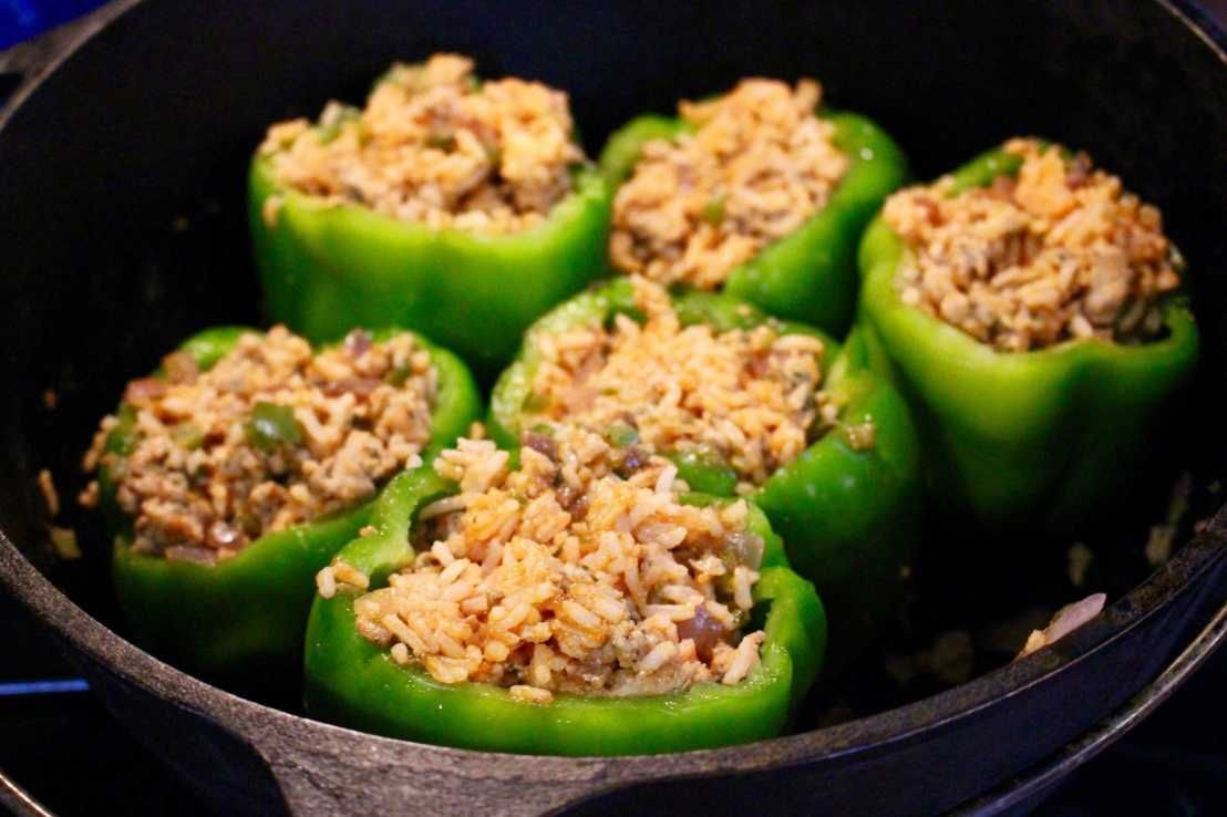 Stuffed Bell Peppers The Perfect Camping Meal Recipe Stuffed Peppers Stuffed Bell Peppers Camping Meals