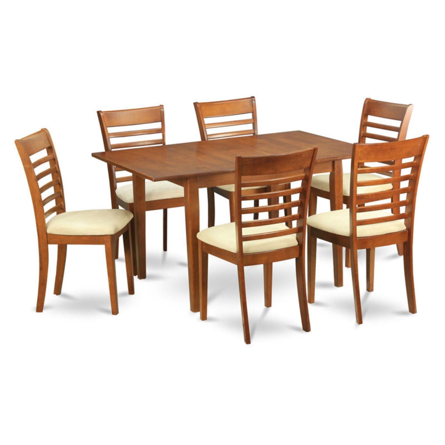 East West Furniture Milan 7 Piece Small Space Rectangular Dining Enchanting Small Rectangular Kitchen Table Design Ideas