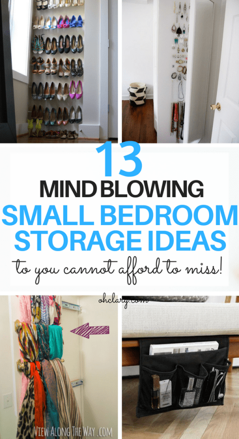 13 Mind Blowing Small Bedroom Storage Ideas For Small Apartments images