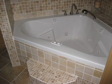 jacuzzi corner tub shower combo walk in shower and
