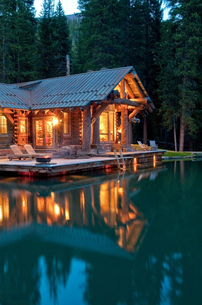 New home with rustic appearance yellowstone club big sky - Maison rustique dan joseph architects ...