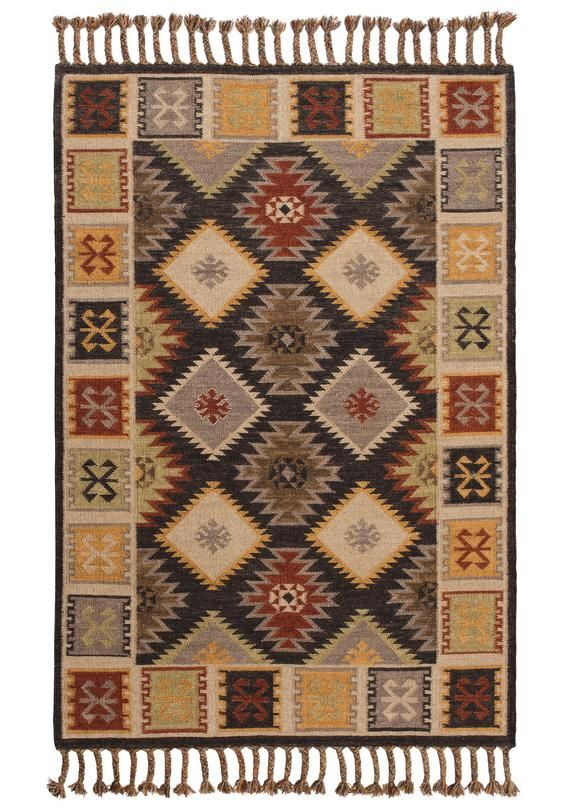 This Shahsavan kilim rug is rich with traditional Indian patterns and warm inviting colours. The blend of wool and cotton ensure that this rug is both soft under foot and inherently hard wearing, perfect for areas of heavy footfall around the home. 80% Wool & 20% Cotton