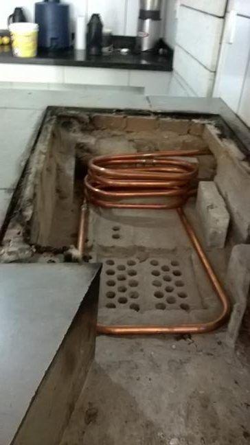 Serpentina De Fogao A Lenha Agua Quente Flex Cozinha Com Fogao