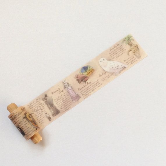 Harry Potter Washi Tape Sample Roll 2m a roll by ccsharetape ...