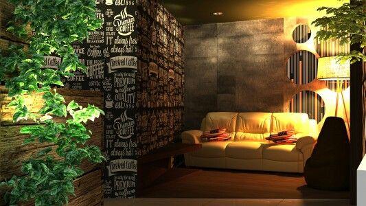 Cafe sofa area