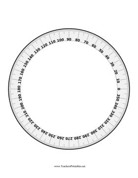 photo relating to Printable Protractor 360 identified as Math and artwork pupils can seek the services of this printable protractor in the direction of