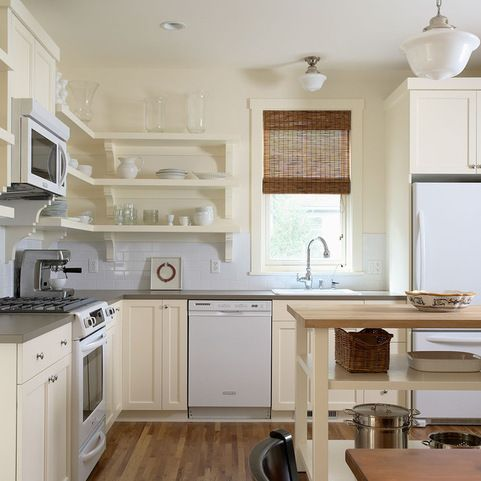 Benjamin Moore Ivory White Cabinet Color White Kitchen Appliances Antique White Kitchen Open Kitchen Shelves